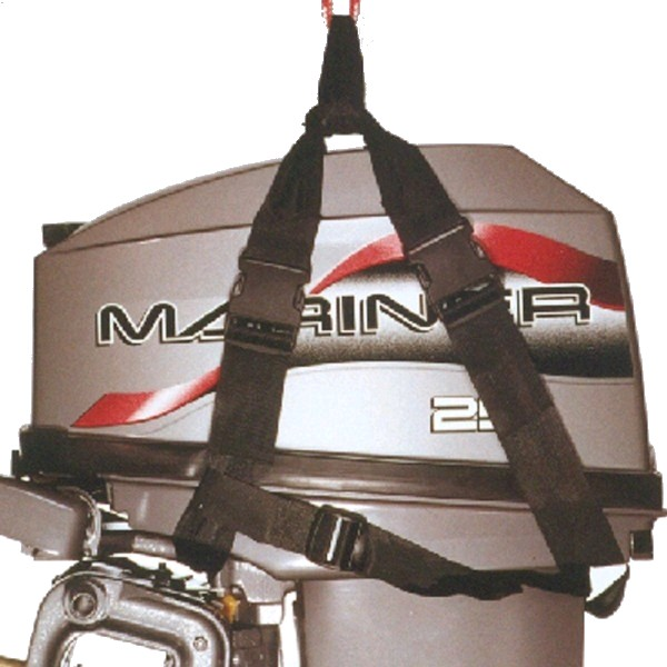 ibs outboard motor sling lifting harness 2 15hp max 38kg On outboard motor lifting strap
