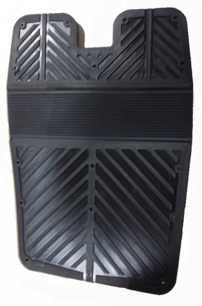 Outboard Transom Pad Plastic Wrap Round