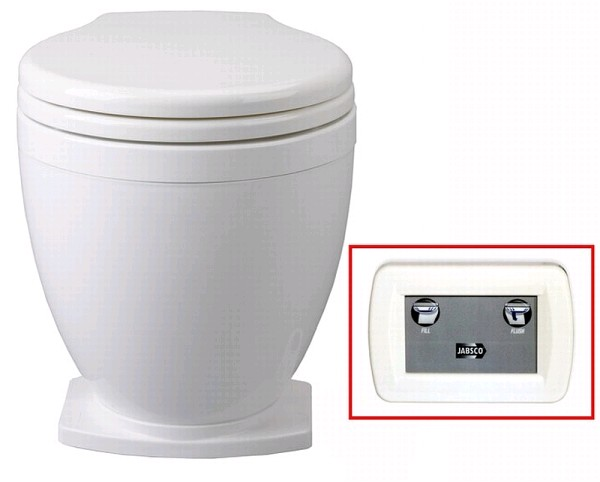 Jabsco 58500 1012 Lite Flush Toilet 12v With Panel