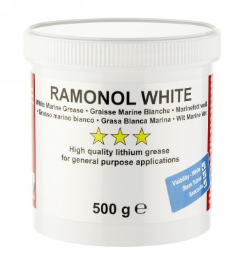 Ramonol White Lithium Water Resistant Marine Grease 500g Boats