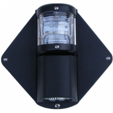 osculati led mast steaming deck light 12 24v black m r marine led combination masthead and deck light 12m series