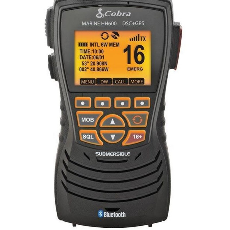 Cobra HH MR600 Floating DSC Handheld VHF Radio With GPS Bluetooth