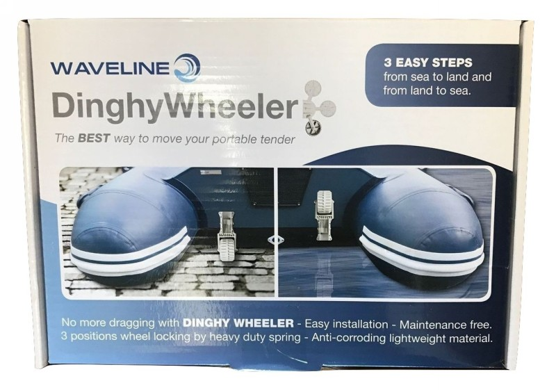 WAVELINE Launching Dolly Wheels Inflatable Boat Dinghy Folding Wheeler