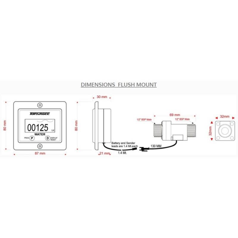 topargee h2flow digital water tank gauge