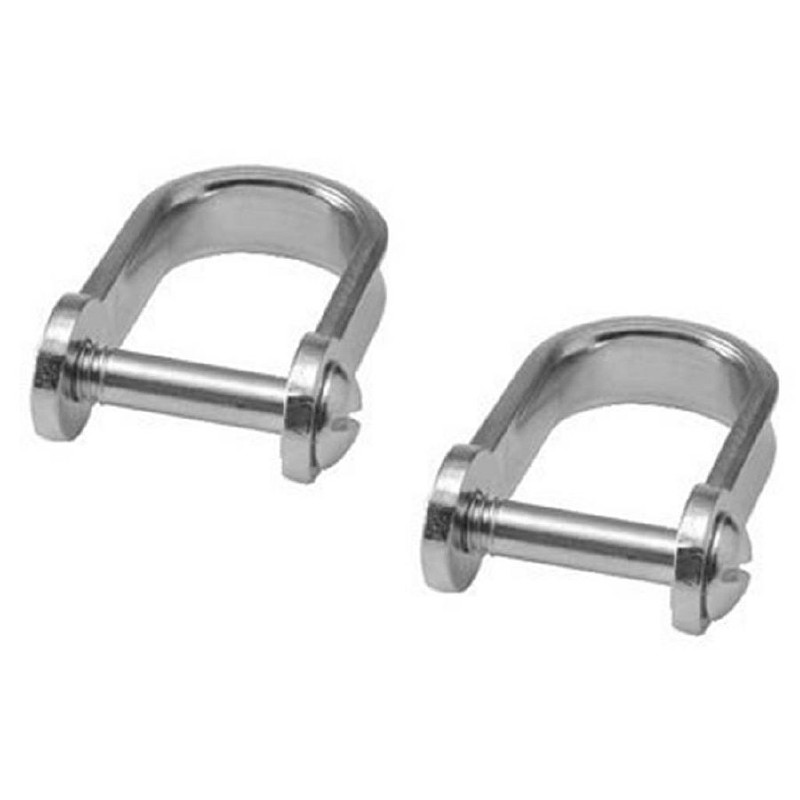 5mm Stainless Steel Strip Dee Shackle 4 PACK