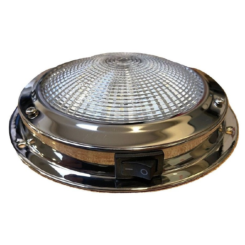 M R Marine LED Dome Light Stainless Steel 12v - 137mm